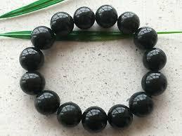 <b>Certified Natural</b> Black Cyan 13mm <b>Chinese</b> jade <b>Hetian</b> jade stone ...