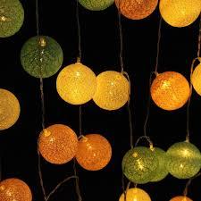 Elegdy 30LEDs Battery Powered Pastel <b>Cotton Ball String</b> Lights ...