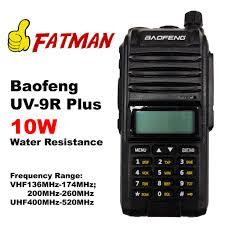 <b>Baofeng UV9R Plus</b> 10w Tri Band Water Resistance Walkie Talkie ...