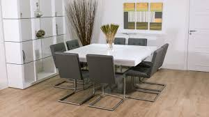 dining sets seater: modern large grey and white dining set uk
