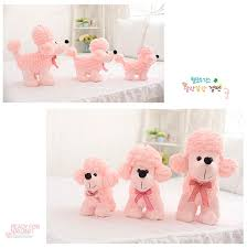 1pcs <b>Lovely Simulation</b> Pink Poodle <b>Dog Plush</b> Toys Cartoon ...