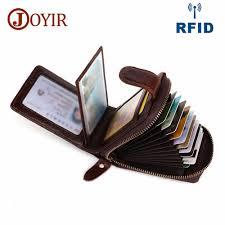 <b>JOYIR</b> Credit <b>Card</b> Holders <b>Wallet Genuine Leather</b> Men Business ...