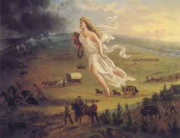 the expansionist spirit of america in the s the manifest native americans flee from the allegorical representation of manifest destiny columbia painted in 1872