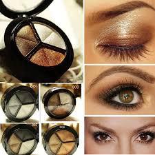<b>Professional Smoky</b> 3 Color Shimmer <b>Eyeshadow Palette Makeup</b> ...