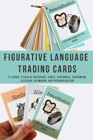 17 best ideas about allusion examples examples of figurative language trading cards