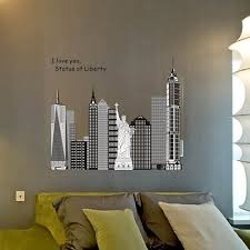 liberty bedroom wall mural: aliexpresscom buy zooyoo the statue of liberty new york city mural removable wall sticker home bedroom decor decal for living room wall decor from