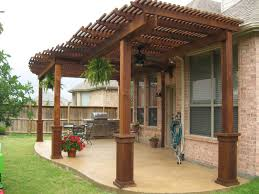 post navigation brown covers outdoor patio