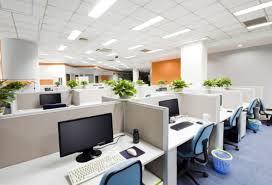 fresh white open office design bringing feng shui office