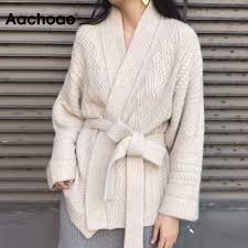 Women <b>Sweater</b> Coat <b>2019 Autumn Winter</b> Loose Casual Warm ...