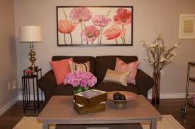 flower room brown sofas and pretty flowers on pinterest beautiful brown living room