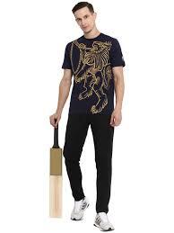 Alcis <b>Men</b> Rajasthan Royals Blue <b>Printed Round</b> Neck T-shirt - Alcis ...