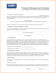 Property Management Contract.Sample Property Manager Agreement ...