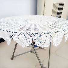 rectangular dining table cover cloth knitted vintage: cm  inch hand made crochet vintage knit retro decorative hook engraving flower weaved