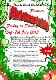 christmas in sydney thirsty hash house harriers the flyer here acirc