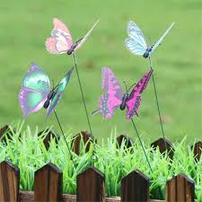 New 10 Pcs Colorful Butterfly On Sticks Home Garden Decoration ...