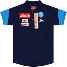 <b>2017</b>-18 Napoli Kappa Polo <b>T</b>-<b>Shirt</b> *BNIB* L.Boys - <b>Classic</b> Retro ...