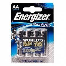<b>Батарейка AA Energizer</b> LR6 Lithium (4-BL)