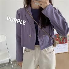 Short long-sleeved <b>blazer</b> female design sense niche <b>Korean</b> ...
