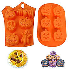 Kungfu Mall 2pcs <b>Halloween Pumpkin Witch</b> Ghost Silicone ...