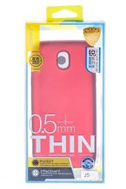<b>Чехол</b>-<b>накладка J-Case</b> Thin 0,5 mm Samsung для J52017 красный
