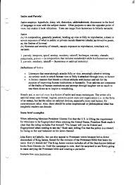 of satirical essay example of satirical essay