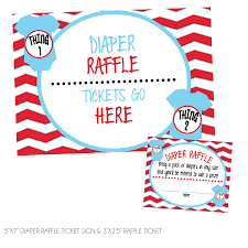 thing one thing two diaper raffle tickets sign kateogroup thing one thing two diaper raffle tickets