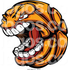 royalty free clip art vector screaming basketball sports logo