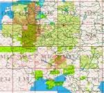 схеме обороны бригады на топографической карте