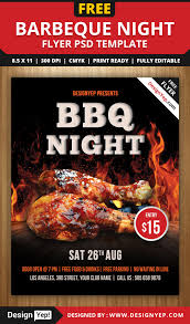 bbq flyer template teamtractemplate s barbeque night flyer psd template designyep klbar7ak