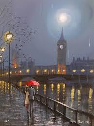 Pete Rumney <b>Art</b> Original Canvas Painting London Thames <b>Big Ben</b> ...
