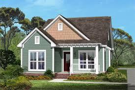Narrow Craftsman Home Plan   Bedrooms  Baths   Plan          middot  Main rendering of Craftsman house plan