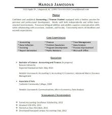 accounting intern resume accounting student resume examples
