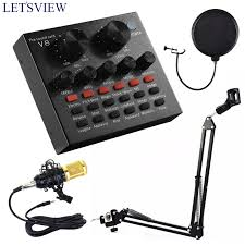 (<b>SET</b>) 4in1 V8 Sound Card WITH BM-800 Microphone AND <b>NB</b>-35 ...
