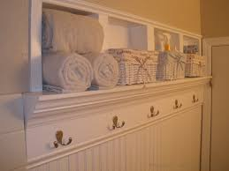 ideas wall shelf hooks: creating beautiful storage space within bathroom walls