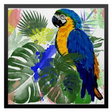 Холст 50x50 <b>Попугай Ара</b> в тропиках #2517754 от Irinakn