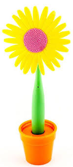 <b>Эврика Ручка</b> шариковая Цветок <b>Астра</b> на подставке цвет желтый