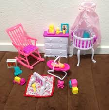 amazoncom barbie size dollhouse furniture gloria baby home nursery set arts crafts sewing amazoncom barbie size dollhouse