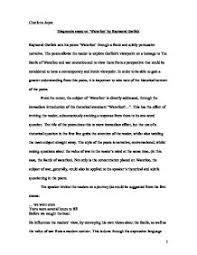 diagnostic essay example goodnodnscajpgdiagnostic essay on waterloo by raymond garlick gcse english diagnostic
