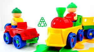 Игрушки <b>Бауэр</b>: <b>конструктор</b> железная дорога и поезд - YouTube