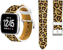 Leopard Band for Fitbit Versa 2,Ecute Replacement ... - Amazon.com
