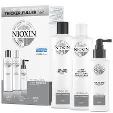 <b>NIOXIN</b> 3-Part <b>System 1</b> Loyalty <b>Kit</b> for Natural Hair with Light Thinning