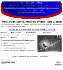 marketing executives marketing officers fixed deposits job image