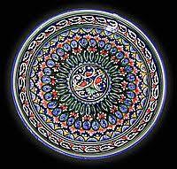 Ляган. Узбекская <b>керамика</b>. Риштан, <b>d</b> 32 см. | Handmade ...