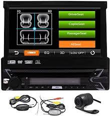 <b>7 inch 1DIN</b> Car Stereo Radio Player GPS Navigation Retractable ...