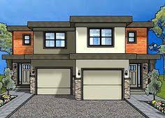 ideas about Duplex House on Pinterest   Duplex House Plans    Duplex House Plan For The Small Narrow Lot   MG   Canadian  Narrow Lot
