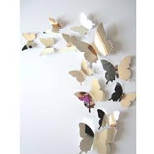 <b>12pcs</b>/<b>set</b> Mirror Wall Stickers Decal Butterflies 3D Mirror Wall Art ...