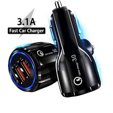 Olnylo <b>18W 3.1A Car Charger</b> Quick Charge 3.0 Universal Dual ...