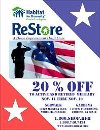 restore military discount habitat for humanity greater la restore military discount