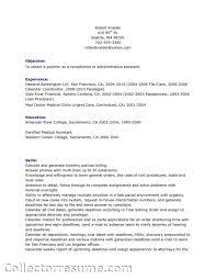 drs receptionist resume   sales   receptionist   lewesmrsample resume  image medical receptionist duties impression
