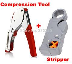 1 set Coaxial Cable Wire Stripper RG6/<b>RG59</b> F <b>Compression 20pcs</b> ...